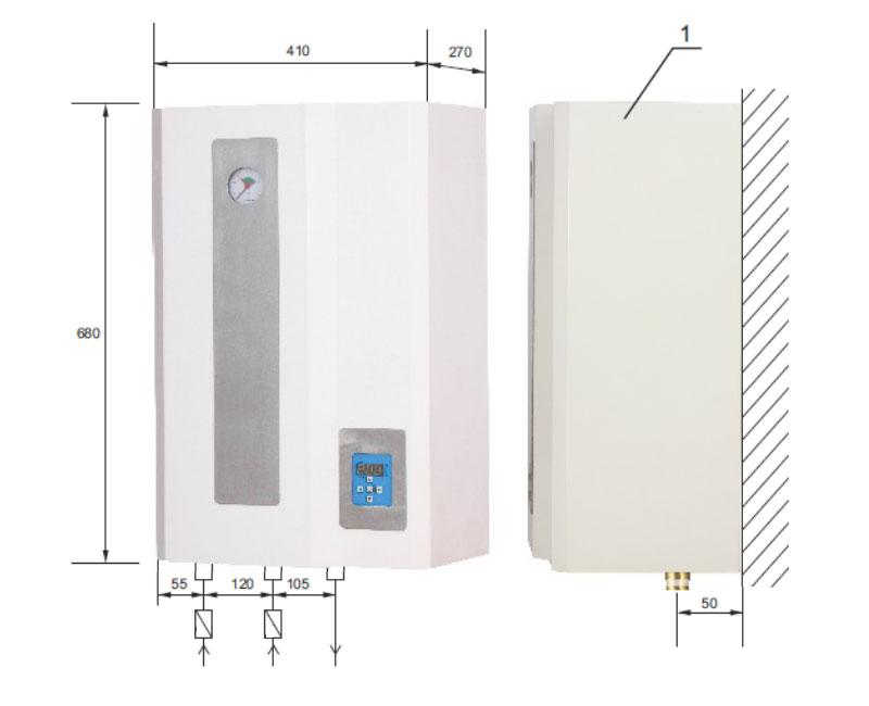 9 kw elektro zentralheizung inkl warmwasser 230v oder 400v neu ebay. Black Bedroom Furniture Sets. Home Design Ideas