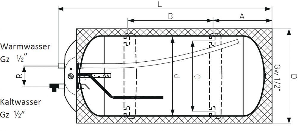 200 liter warmwasserspeicher 1 w rmetauscher slim 60 cm breit warmwasserboiler. Black Bedroom Furniture Sets. Home Design Ideas