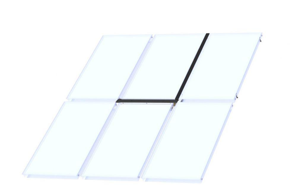 solaranlagen baubeschlag vertikaler ausbau f r zus tzl mittelkollektor heizung solar24. Black Bedroom Furniture Sets. Home Design Ideas