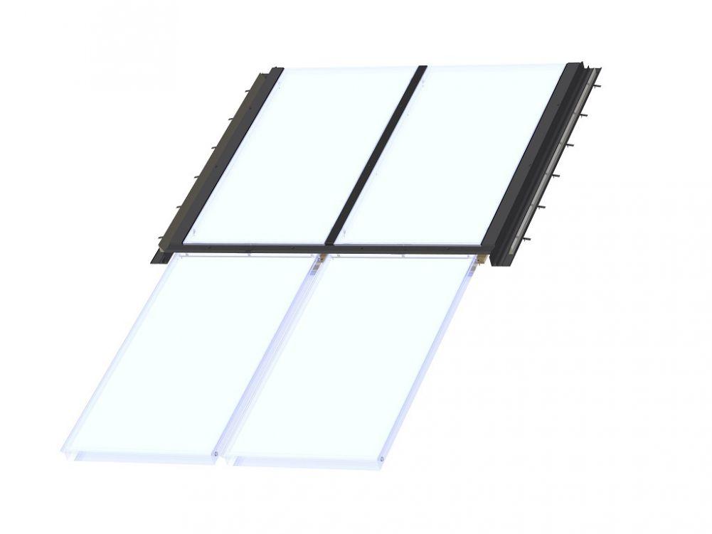 solaranlagen baubeschlag vertikaler ausbau f r zwei. Black Bedroom Furniture Sets. Home Design Ideas